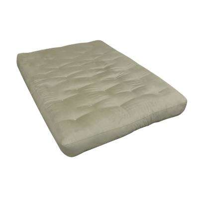 Full 8 in. Foam and Cotton Tan Futon Mattress