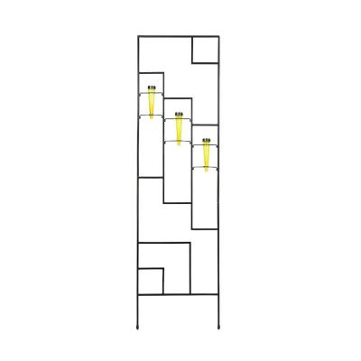 Ando Solar Decorative Garden Trellis, 79.5 in. Tall Yellow