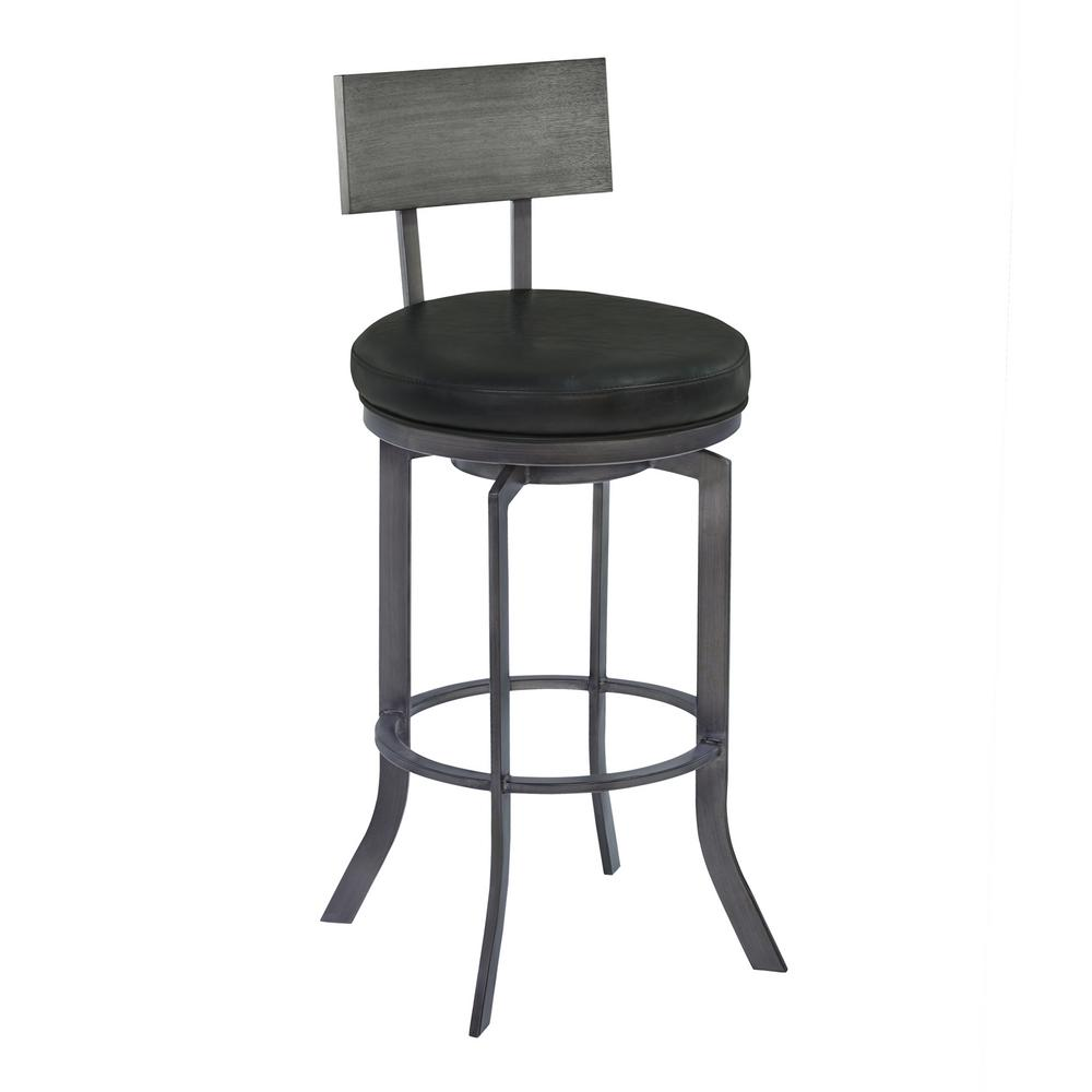 Beau Armen Living Aries 26 In. Black Bar Stool