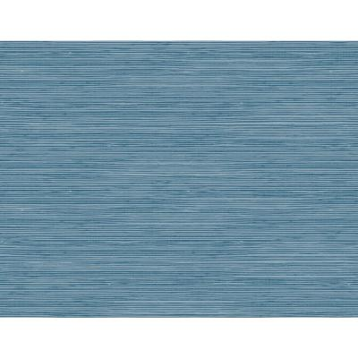 Jamaica Navy and Steel Blue Faux Grasscloth Wallpaper