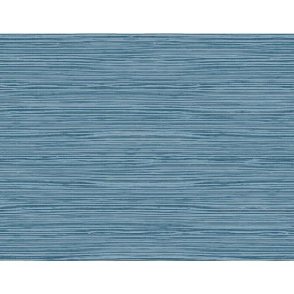 Seabrook Designs Jamaica Navy and Steel Blue Faux Grasscloth Wallpaper TA21702