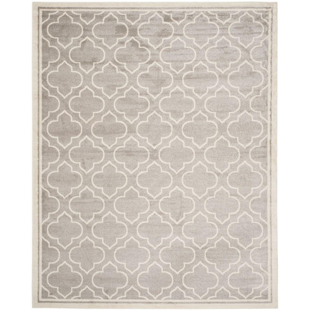 Amherst Light Gray/Ivory 9 ft. x 12 ft. Indoor/Outdoor Area Rug