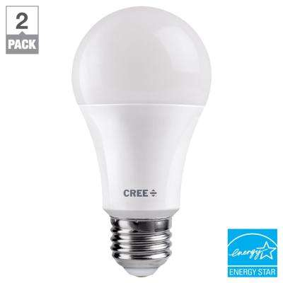 60W Equivalent Soft White (2700K) A19 Dimmable Exceptional Light Quality LED Light Bulb (2-Pack)