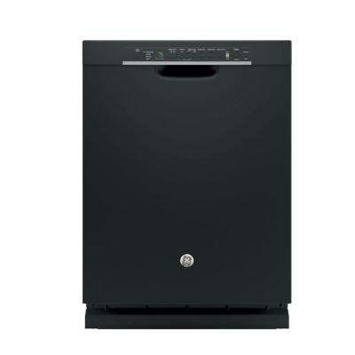 Front Control Built-In Tall Tub Dishwasher in Black with Stainless Steel Tub and Steam Prewash