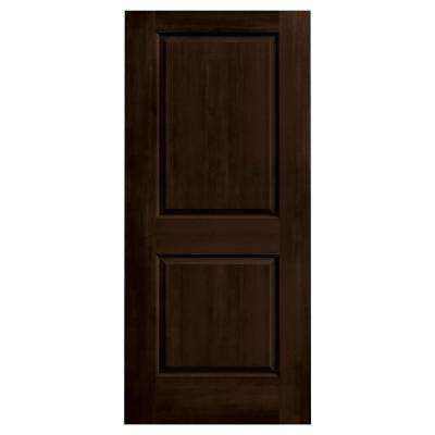 36 in. x 80 in. Cambridge Espresso Stain Solid Core Molded Composite MDF Interior Door Slab
