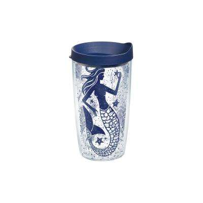 Mermaid Collage 16 oz. Double Walled Insulated Tumbler with Travel Lid