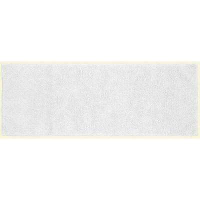 Queen Cotton White 22 in. x 60 in. Washable Bathroom Accent Rug