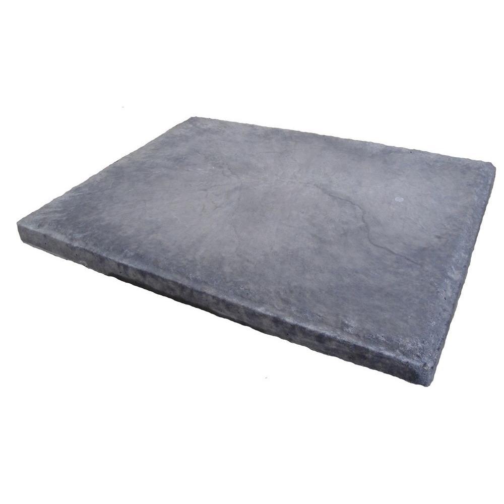 Oldcastle 18 in. x 24 in. Slatestone Gray Concrete Step Stone