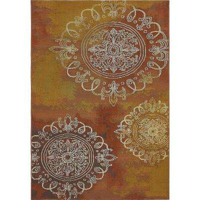 Outdoor Trio Rust Red 5' 3 x 8' 0 Area Rug