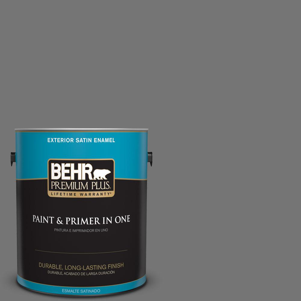 1-gal. #N520-5 Iron Mountain Satin Enamel Exterior Paint