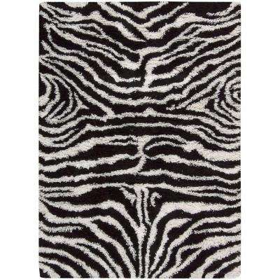 Splendor Black/White 8 ft. x 10 ft. Area Rug