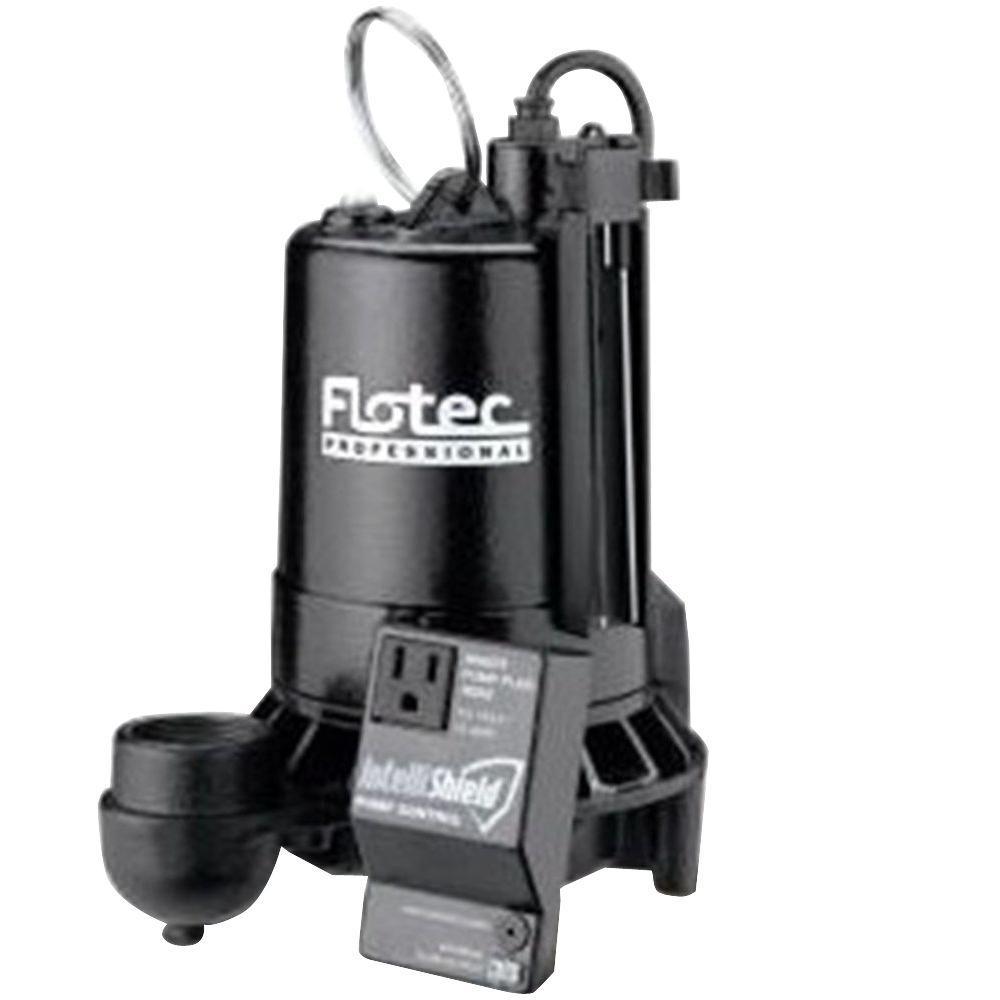 flotec 1 hp electronic submersible sump pump e100elt the home depot rh homedepot com Flotec Sump Pump Replacement Parts Flotec Well Pumps