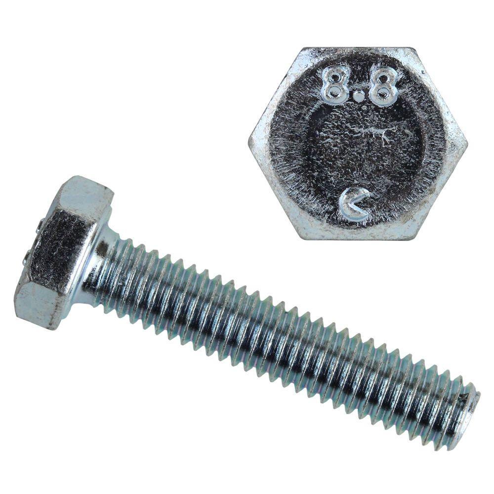 8 mm-1.25 x 25 mm Zinc-Plated Metric Hex Bolt