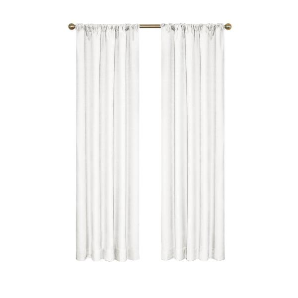 Kendall Blackout Window Curtain Panel in White - 42 in. W x 95 in. L