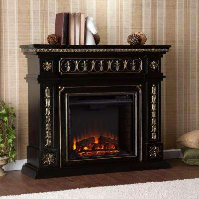 Grace 47 in. Freestanding Electric Fireplace in Black