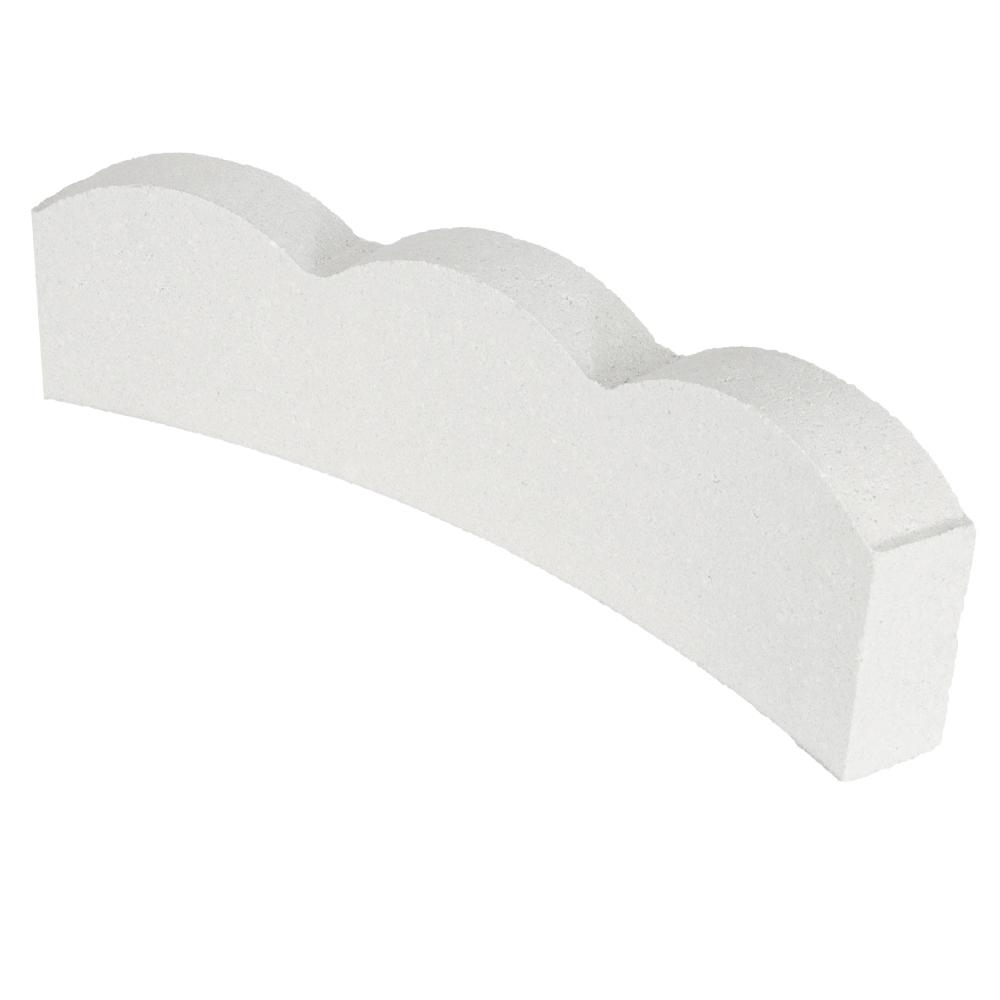 Oldcastle 16 in. x 2 in. White Curved Scallop Concrete Edger