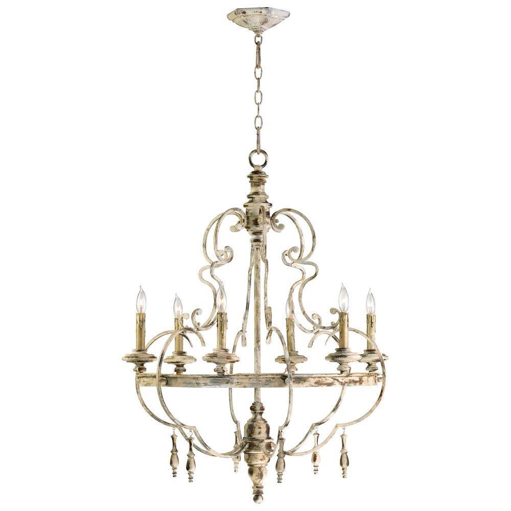Filament Design Prospect 6-Light Persian White Incandescent Ceiling Chandelier