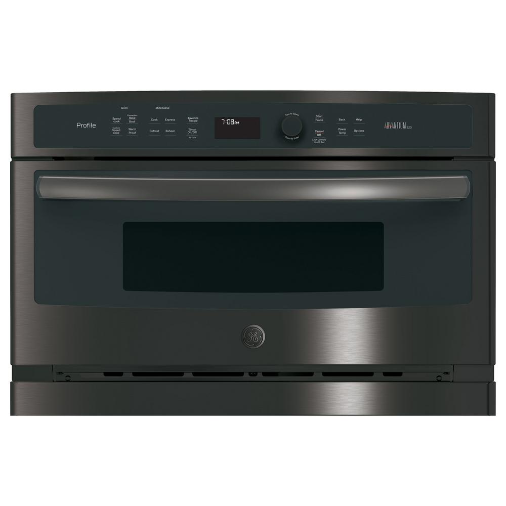 27 in. Single Electric Wall Oven with Advantium Technology in Black