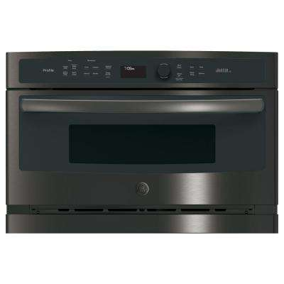 Profile 27 in. Single Electric Wall Oven with Advantium Cooking in Black Stainless Steel, Fingerprint Resistant