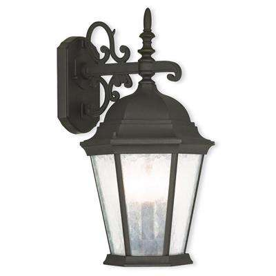Hamilton 3-Light Textured Black Outdoor Wall Lantern