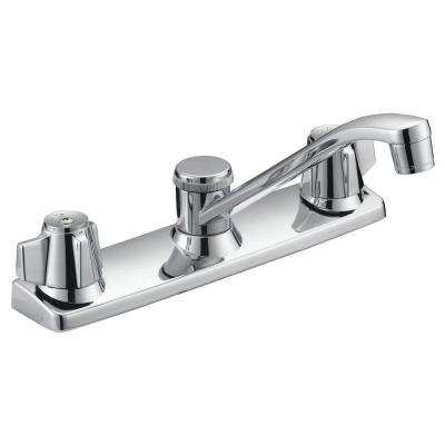 Traditional Collection 2-Handle Standard Kitchen Faucet with Washerless Cartridge in Chrome