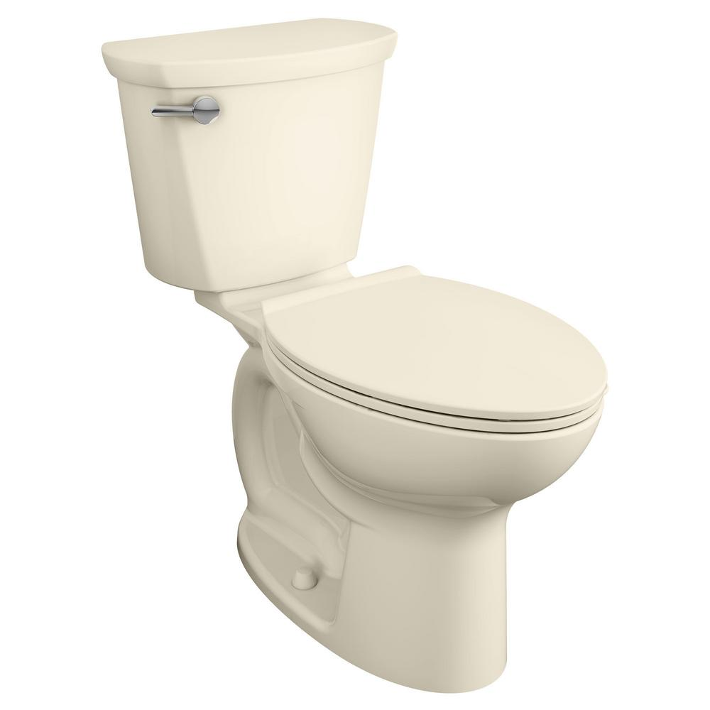 American Standard Cadet Pro Compact Tall Height 14 in. Rough-In 2-Piece 1.28 GPF Single Flush Elongated Toilet in Bone, Seat Not Included