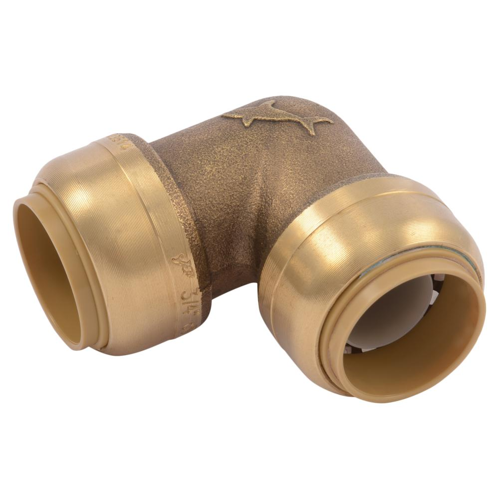3/4 in. Brass 90-Degree Push-to-Connect Elbow (4-Pack)