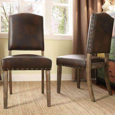 Bunker Hill Chocolate Linen Dining Chair (Set of 2)