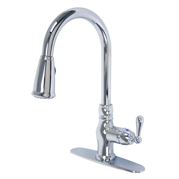 Prime Collection Single-Handle Pull-Down Sprayer Kitchen Faucet in Chrome