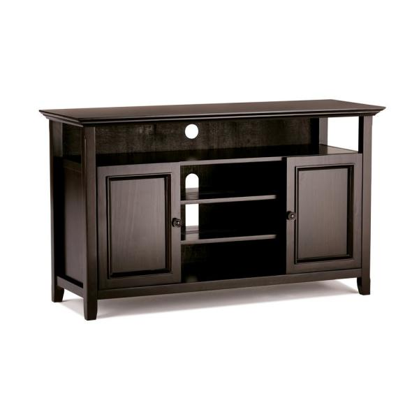 Simpli Home Amherst Solid Wood 54 in. Wide Transitional TV Media