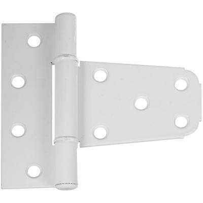 3-1/2 in. White Vinyl Gate T-Hinge