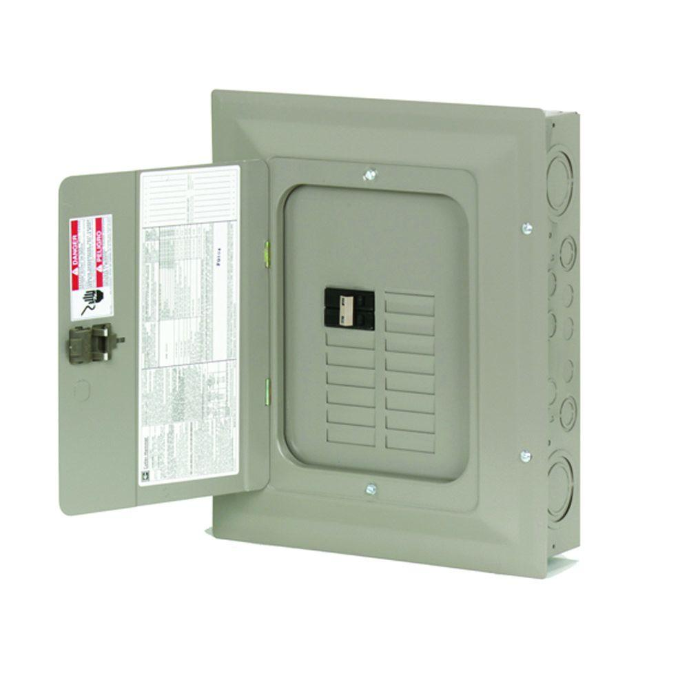 CH 100 Amp 14-Space 14-Circuit Indoor Main Breaker Loadcenter with Cover