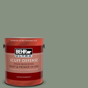 Behr Ultra 1 Qt 630f 4 Wild Thistle Extra Durable Flat Interior Paint And Primer In One 172404 The Home Depot