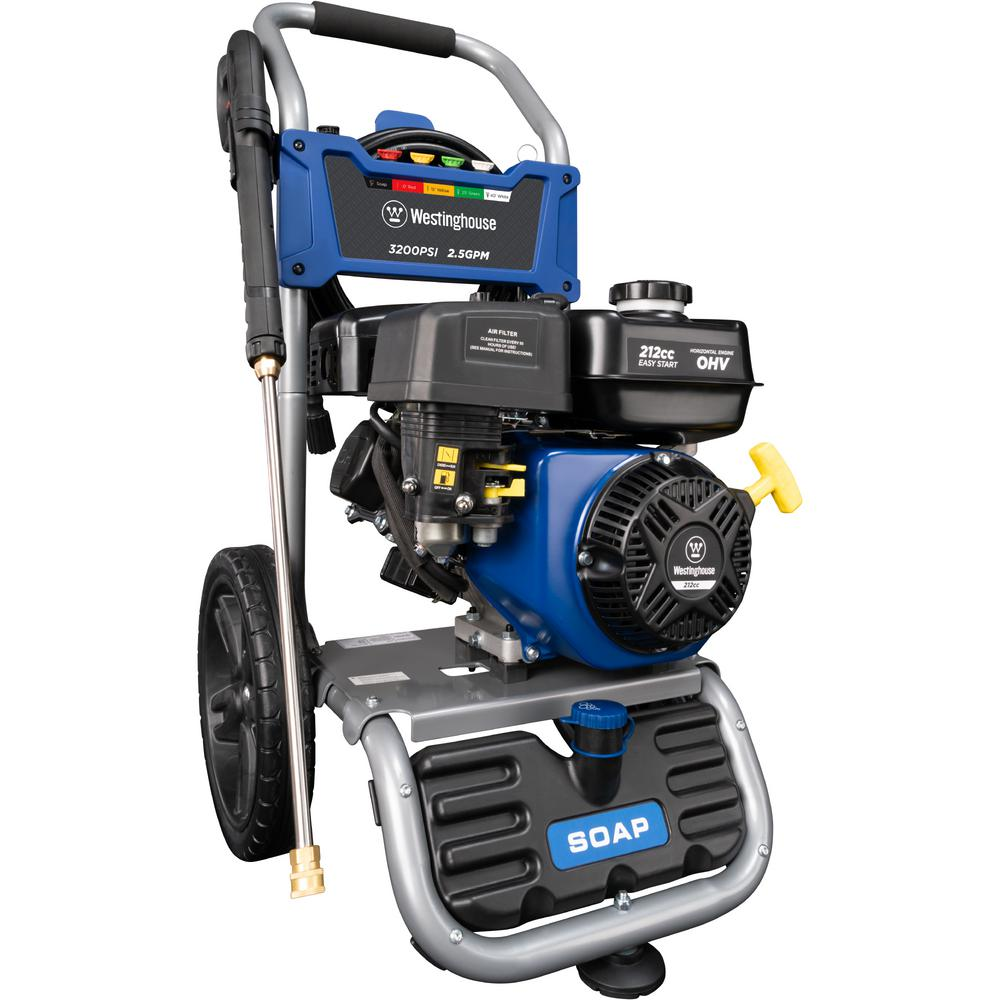 Westinghouse WPX 3200 PSI 2.5 GPM Gas Powered Axial Cam Pump Pressure Washer with Quick Connect Tips