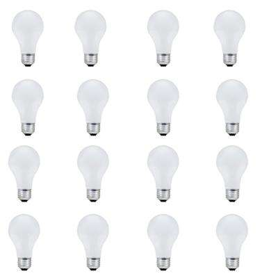 100-Watt A19 Halogen Light Bulb (16-Pack)