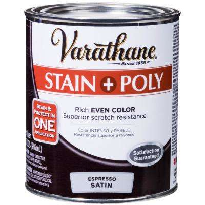 1-qt. Espresso Satin Water-Based Interior Stain and Polyurethane (2-Pack)