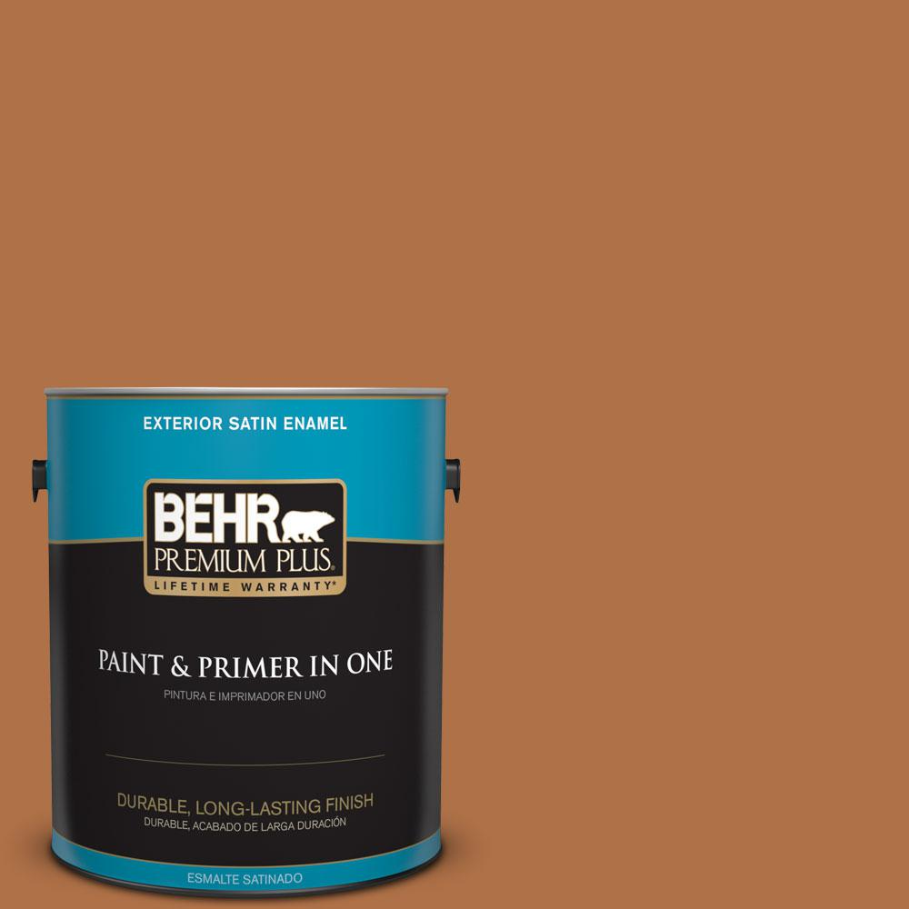BEHR Premium Plus 1-gal. #PMD-41 Copper Mine Satin Enamel Exterior Paint