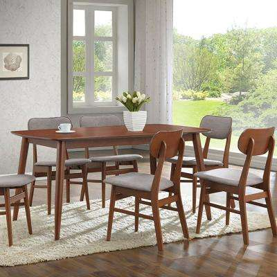 6 people solid back wood dining room sets kitchen dining sacramento 7 piece gray fabric upholstered dining set sxxofo