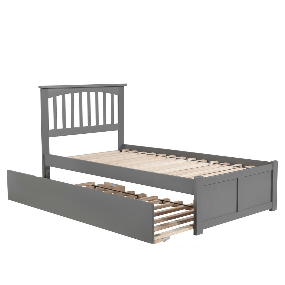 Mission Twin Platform Bed with Flat Panel Foot Board and Twin