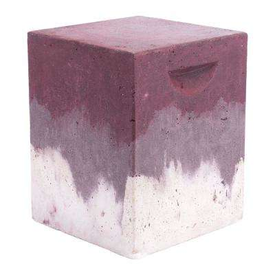 Cubo Purple Stone Outdoor Side Table