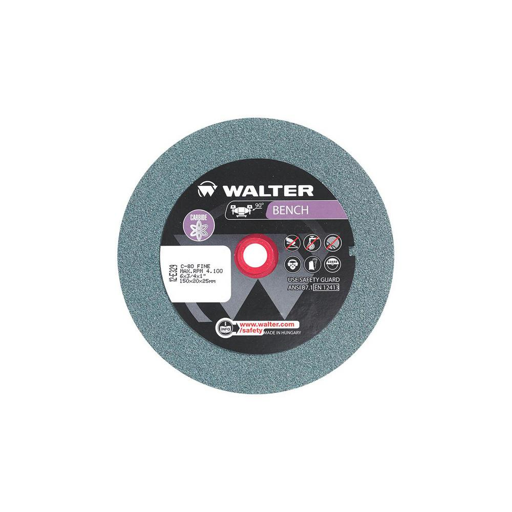 Walter Surface Technologies 6 In X 1 In Arbor X 3 4 In Gr 80 Fine Bench Grinding Wheels
