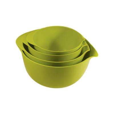 4-Piece Melamine Lime Mixing Bowl Set
