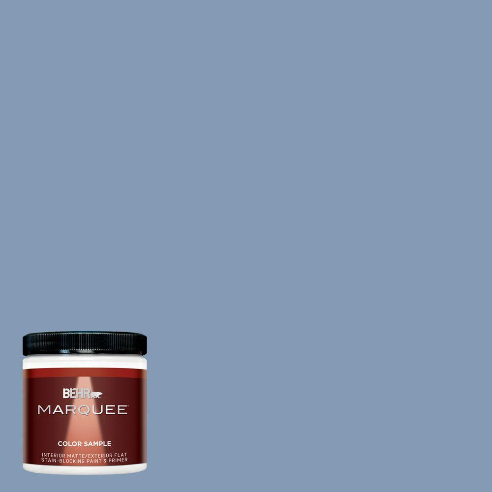 Behr marquee 8 oz mq5 51 mystery interior exterior paint sample mq30416 the home depot for Best one coat coverage exterior paint