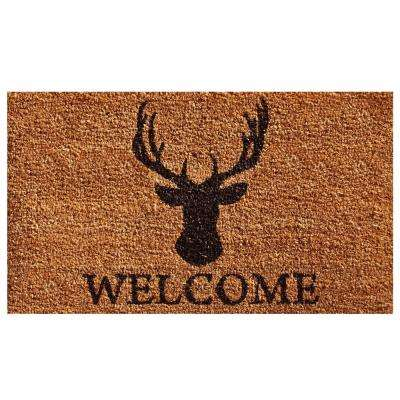Deer Welcome 24 in. x 36 in. Door Mat