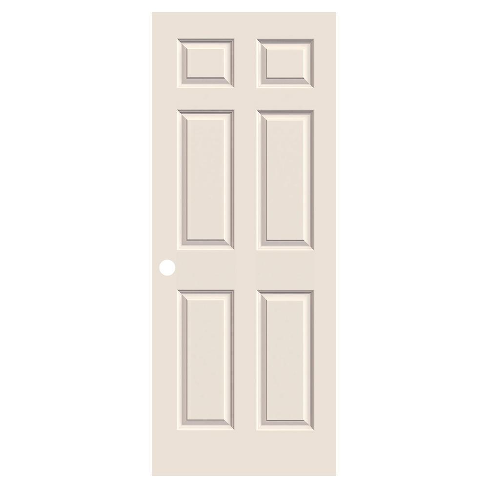 36 in. x 80 in. Colonist Primed Textured Molded Composite MDF Interior Door Slab