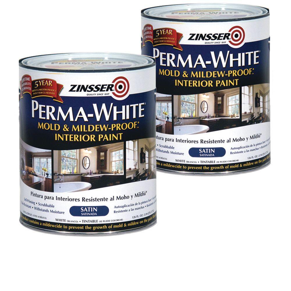 Zinsser 1 Qt. Perma-White Satin (2-Pack)-DISCONTINUED