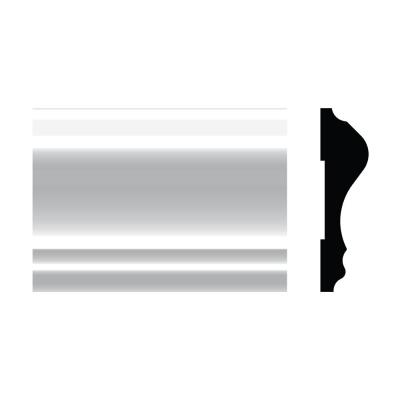 5390 11/16 in. x 2-5/8 in. x 8 ft. PVC Composite White Chair Rail Moulding