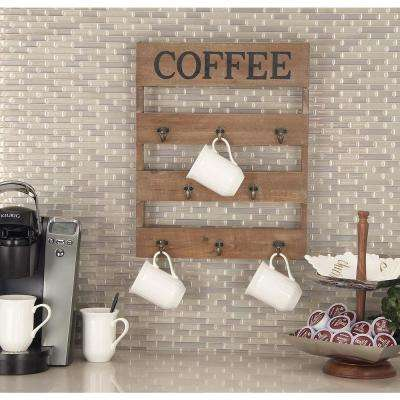 "15 in. x 19 in. Traditional Wood and Metal ""Coffee"" Wall Hook"