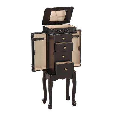 Tiana Jewelry Armoire in Espresso