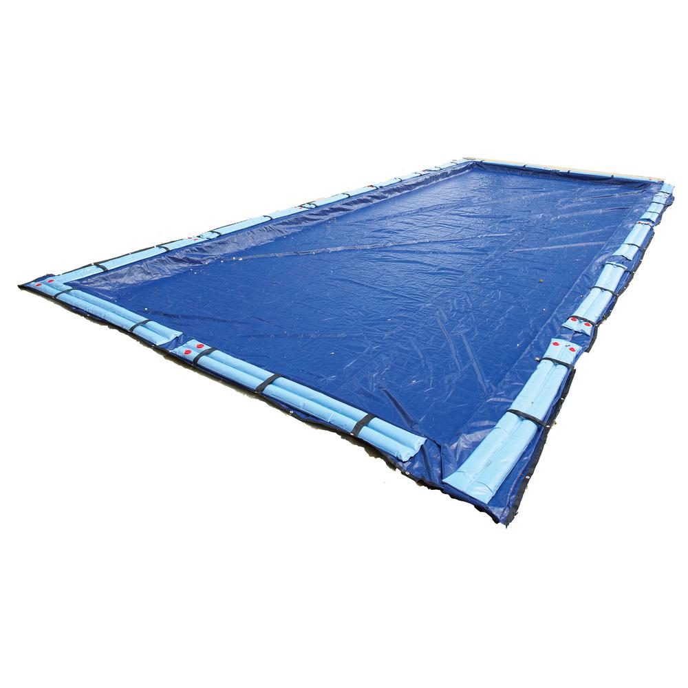 Blue Wave 15-Year 12 ft. x 20 ft. Rectangular Royal Blue In Ground Winter Pool Cover